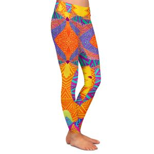 Casual Comfortable Leggings | Pom Graphic Design Ethnic Sun I