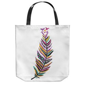 Unique Shoulder Bag Tote Bags | Pom Graphic Design - Feather and Birds | Animals Birds Nature