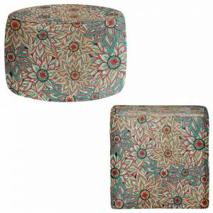 Round and Square Ottoman Foot Stools | Pom Graphic Design - Floral Epoque