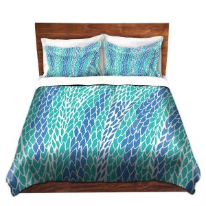 Artistic Duvet Covers and Shams Bedding | Pom Graphic Design - Flying Feathers
