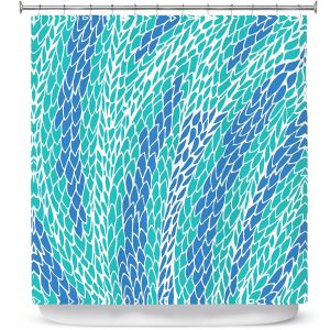 Unique Shower Curtain from DiaNoche Designs by Pom Graphic Design - Flying Feathers