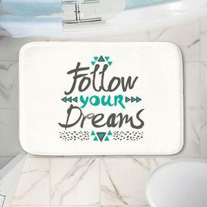 Decorative Bathroom Mats | Pom Graphic Design - Follow Your Dreams