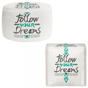 Round and Square Ottoman Foot Stools | Pom Graphic Design - Follow Your Dreams