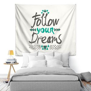 Artistic Wall Tapestry | Pom Graphic Design Follow Your Dreams