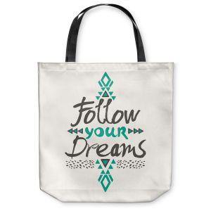 Unique Shoulder Bag Tote Bags | Pom Graphic Design Follow Your Dreams