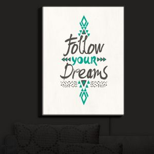 Nightlight Sconce Canvas Light | Pom Graphic Design - Follow Your Dreams