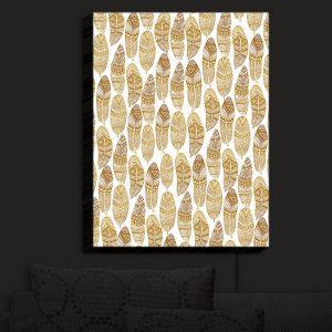 Nightlight Sconce Canvas Light | Pom Graphic Design - Free Spirit | Feathers Patterns