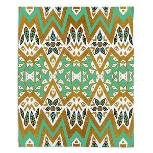 Artistic Sherpa Pile Blankets | Pom Graphic Design - Golden Nature Mandala l