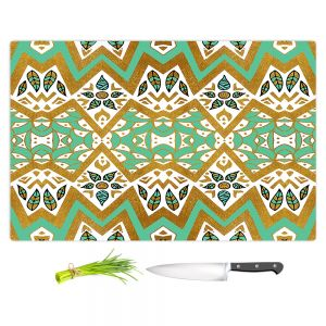 Artistic Kitchen Bar Cutting Boards | Pom Graphic Design - Golden Nature Mandala l