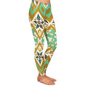 Casual Comfortable Leggings | Pom Graphic Design - Golden Nature Mandala l