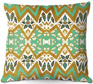 Throw Pillows Decorative Artistic   Pom Graphic Design - Golden Nature Mandala l