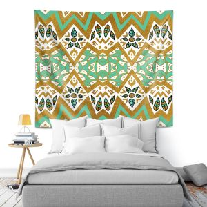 Artistic Wall Tapestry | Pom Graphic Design - Golden Nature Mandala l