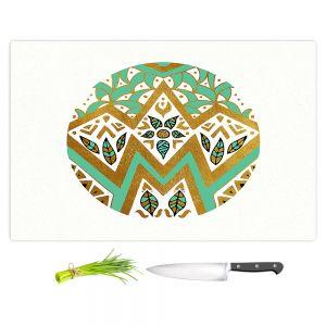 Artistic Kitchen Bar Cutting Boards | Pom Graphic Design - Golden Nature Mandala ll