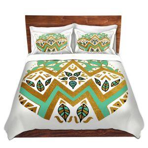 Artistic Duvet Covers and Shams Bedding   Pom Graphic Design - Golden Nature Mandala ll