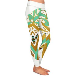 Casual Comfortable Leggings | Pom Graphic Design - Golden Nature Mandala ll