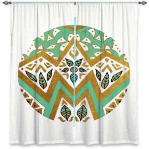 Decorative Window Treatments | Pom Graphic Design - Golden Nature Mandala ll