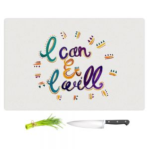 Artistic Kitchen Bar Cutting Boards | Pom Graphic Design - I Can and I WIll