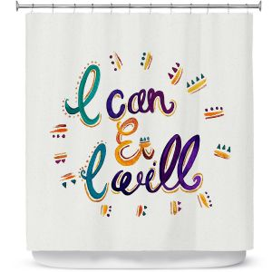 Premium Shower Curtains | Pom Graphic Design - I Can and I WIll