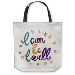 Unique Shoulder Bag Tote Bags | Pom Graphic Design - I Can and I WIll