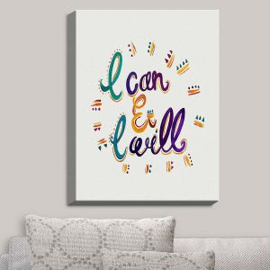 Decorative Canvas Wall Art | Pom Graphic Design - I Can and I WIll | Quotes Inspiring