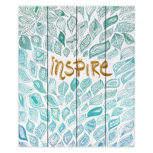 Decorative Wood Plank Wall Art | Pom Graphic Design - Inspire | Typography Text Inspirational