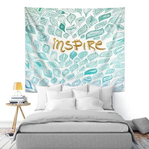 Artistic Wall Tapestry   Pom Graphic Design - Inspire   Typography Text Inspirational