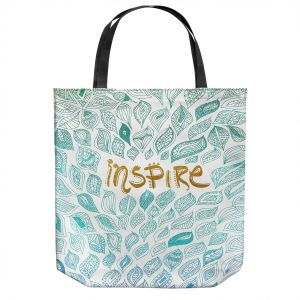 Unique Shoulder Bag Tote Bags | Pom Graphic Design - Inspire | Typography Text Inspirational