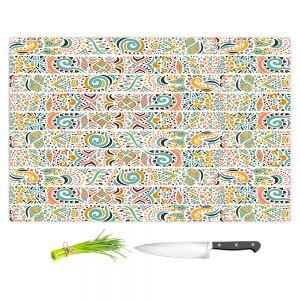 Artistic Kitchen Bar Cutting Boards | Pom Graphic Design - Jungle Doodles | animal nature pattern