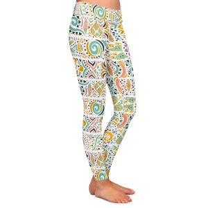 Casual Comfortable Leggings | Pom Graphic Design - Jungle Doodles | animal nature pattern
