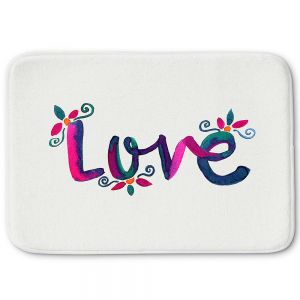 Decorative Bathroom Mats | Pom Graphic Design - Love