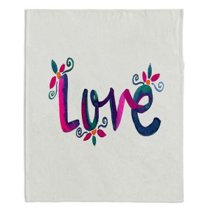Decorative Fleece Throw Blankets | Pom Graphic Design - Love