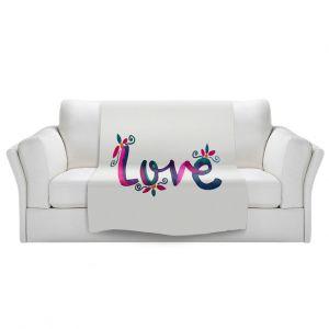 Artistic Sherpa Pile Blankets | Pom Graphic Design - Love