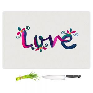 Artistic Kitchen Bar Cutting Boards | Pom Graphic Design - Love