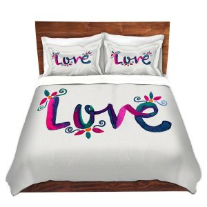 Artistic Duvet Covers and Shams Bedding | Pom Graphic Design - Love