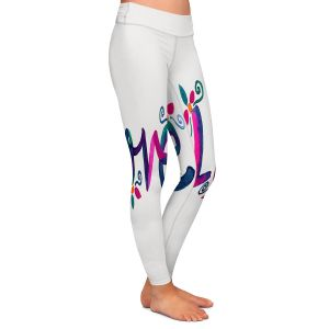 Casual Comfortable Leggings | Pom Graphic Design - Love