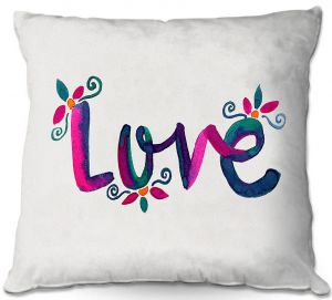 Decorative Outdoor Patio Pillow Cushion | Pom Graphic Design - Love