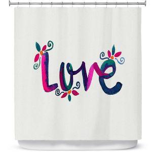 Premium Shower Curtains | Pom Graphic Design - Love