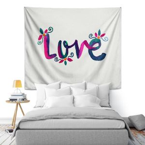 Artistic Wall Tapestry | Pom Graphic Design - Love