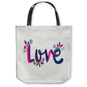 Unique Shoulder Bag Tote Bags | Pom Graphic Design - Love
