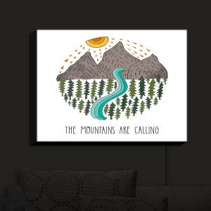 Nightlight Sconce Canvas Light | Pom Graphic Design - Mountains are Calling