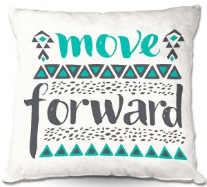 Decorative Outdoor Patio Pillow Cushion | Pom Graphic Design - Move Forward