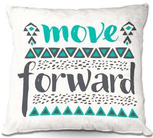 Decorative Outdoor Patio Pillow Cushion   Pom Graphic Design - Move Forward