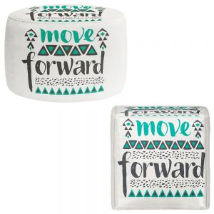 Round and Square Ottoman Foot Stools | Pom Graphic Design - Move Forward