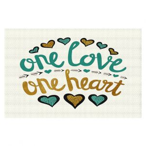 Decorative Floor Coverings | Pom Graphic Design - One Love One Heart Golds