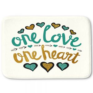Decorative Bathroom Mats | Pom Graphic Design - One Love One Heart Golds