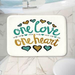 Decorative Bathroom Mats | Pom Graphic Design - One Love One Heart Golds