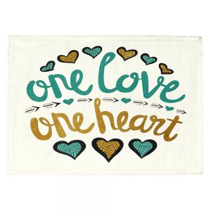 Countertop Place Mats | Pom Graphic Design - One Love One Heart Golds