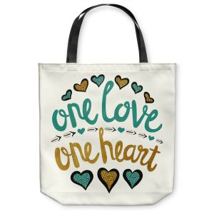 Unique Shoulder Bag Tote Bags |Pom Graphic Design - One Love One Heart Golds