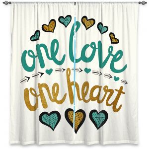 Decorative Window Treatments | Pom Graphic Design - One Love One Heart Golds