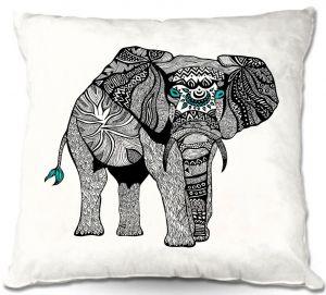 Decorative Outdoor Patio Pillow Cushion | Pom Graphic Design - One Tribal Elephant